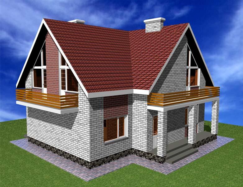 Проект одноэтажного дома с мансардой белгород архитектурное .